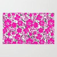 flower pattern Area & Throw Rugs featuring Flower Pattern  by Sammycrafts