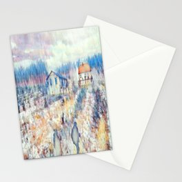 Hiking On Plaid Days Stationery Cards