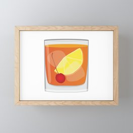 Old Fashioned Cocktail Framed Mini Art Print