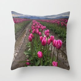 Pink Impression Throw Pillow