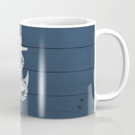 Blue Wood Anchor Coffee Mug