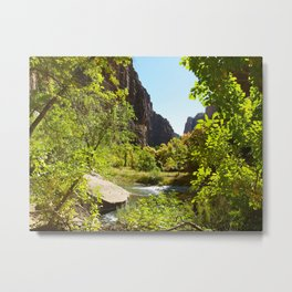 The Virgin River in Zion Metal Print