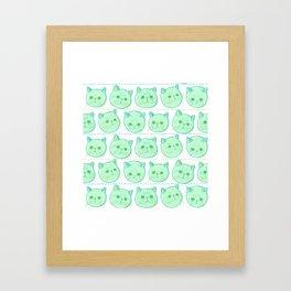 Exotic shorthair cat pattern Framed Art Print