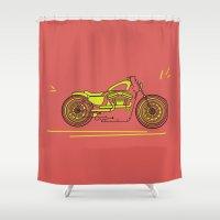 bike Shower Curtains featuring Bike by Daniella Gallistl