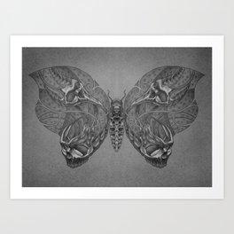 Butterfly skulls 1 Art Print