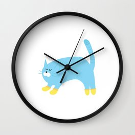 kitten wearing socks Wall Clock