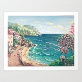 Sunny island, Art Print