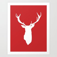 Red Deer Antlers Art Print