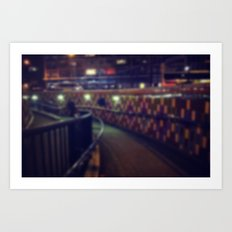 Subway at night Art Print