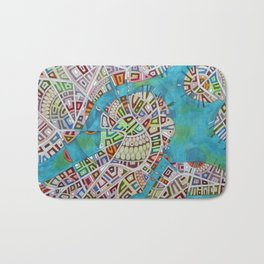 imaginary map of boston  Bath Mat