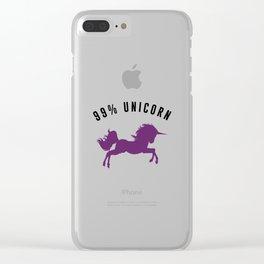 99% Unicorn Clear iPhone Case