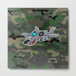 Flying Warthog Metal Print