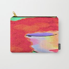 Very Red Abstract Digital Portrait Carry-All Pouch