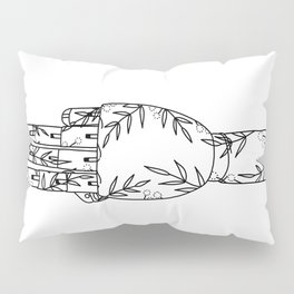 Botanical Mannequin Hand - Three Pillow Sham