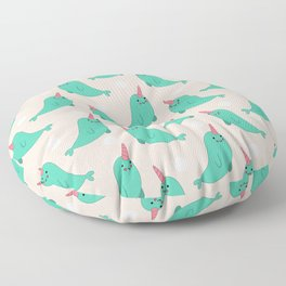 Narwhal Loves You Floor Pillow