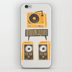 Vinyl Deck And Speakers iPhone Skin