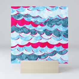 Abstract Sea Waves Design Mini Art Print