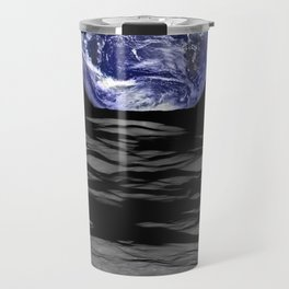 Earthrise over Compton crater Travel Mug