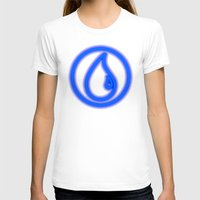 magic the gathering T-shirts featuring Magic the Gathering, Neon Blue Mana by Thorn Blackstar