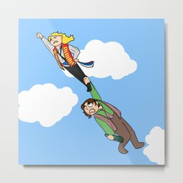 Enjolras and Grantaire Metal Print