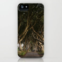 Row of Trees (Dark Hedges in Northern Ireland) iPhone Case