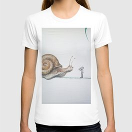snail and little boy T-shirt