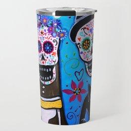 Dia de los Muertos Special Wedding Calavera Painting Travel Mug
