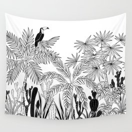Toucan in the jungle. Wall Tapestry
