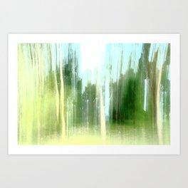 Trees in the Park ICM Art Print