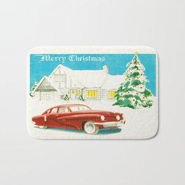 Vintage Christmas Tucker 48' Vintage Car Bath Mat