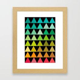 The triangles Framed Art Print