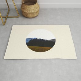 Edge Of The Forest Landscape Round Photo Rug