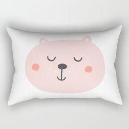 Baby Bear | Smiling Critter Rectangular Pillow
