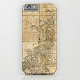 Complete Map of Shaanxi Province, China (1864) iPhone Case