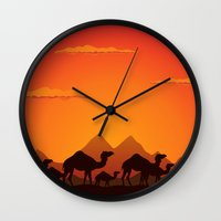 camel Wall Clocks featuring Camel by aleksander1