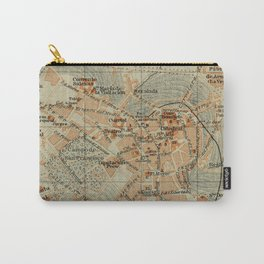 Vintage Oviedo Spain Map (1913) Carry-All Pouch