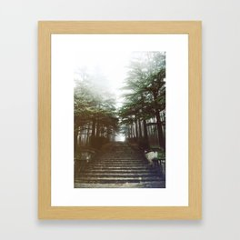 I will follow you into the dark. Framed Art Print