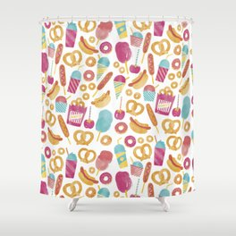 Carnival Food  Shower Curtain