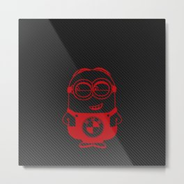 Carbon minion red Metal Print