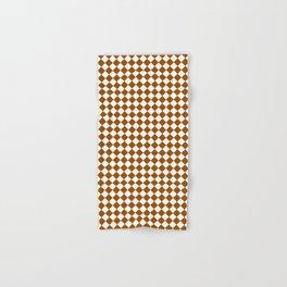 Small Diamonds - White and Brown Hand & Bath Towel