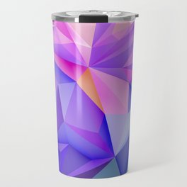 Pink & Purple Geometric Art Travel Mug