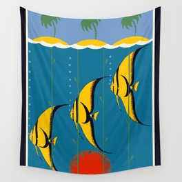 Great Barrier Reef Australia travel advertising Wall Tapestry