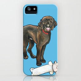 Milo the Poodle with his Monkey iPhone Case