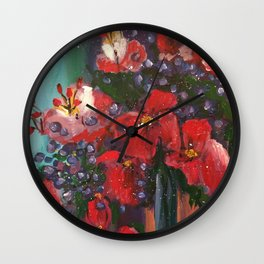 Crimson Moment Wall Clock