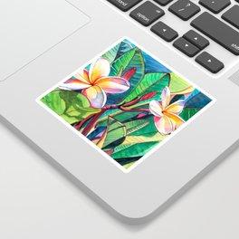 Plumeria Garden Sticker