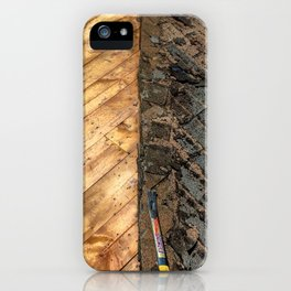 Roofing Past and Present iPhone Case