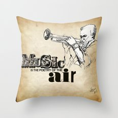 Music is poetry Throw Pillow