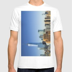 World Trade Center Freedom Tower NYC MEDIUM Mens Fitted Tee White