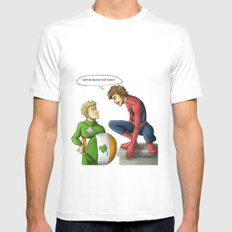 Superherov Niall and Louis MEDIUM White Mens Fitted Tee