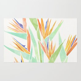 Birds of Paradise ~ tropical bouquet Rug